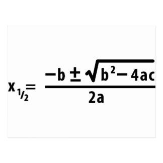 quadratic formula post cards