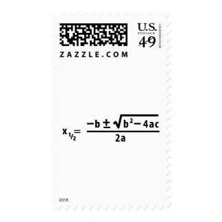 quadratic formula postage stamps