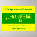 Quadratic Formula Poster