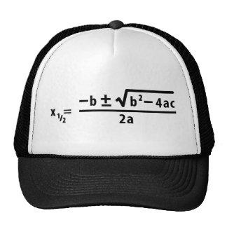 quadratic formula trucker hat