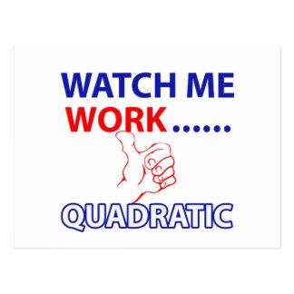 quadratic mathematics design postcard