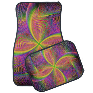 Quadratic rainbow car mat