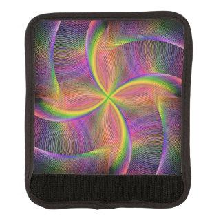 Quadratic rainbow luggage handle wrap