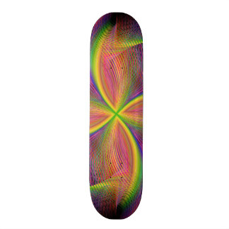Quadratic rainbow skateboard deck