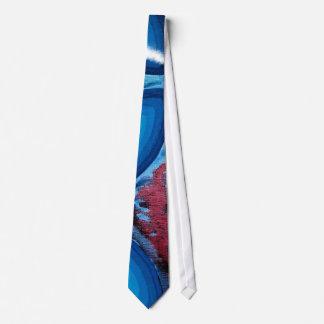Quadric Color Energy Spirals Blue Tie