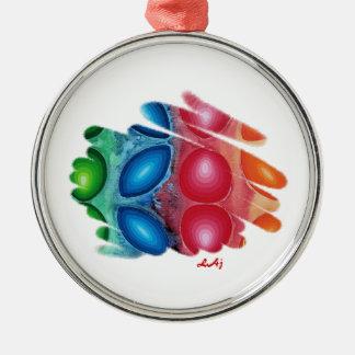 Quadric Color Spirals Premium Round Ornament