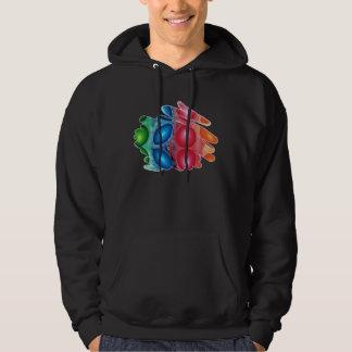 Quadric Colors Energy Spirals Men Dark Hoodie