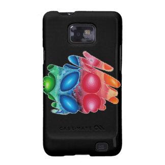 Quadric Spirals on Black Samsung Galaxy Case S2