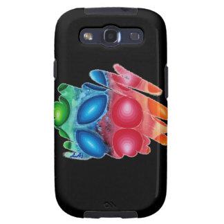 Quadric Spirals on Black Samsung Galaxy Case S3 V