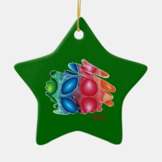 Quadric Spirals on Green Star Ornament