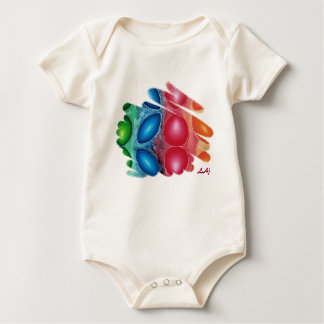 Quadric Spirals Organic Baby Bodysuit
