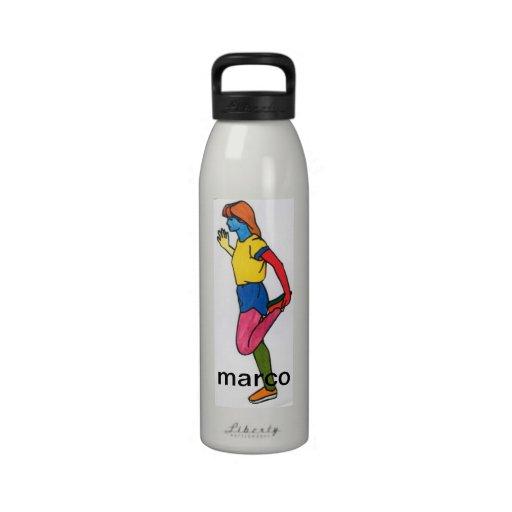 Quadriceps stretch exercise Liberty Bottle Water Bottle