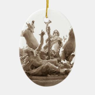 Quadriga in Paris, France Ceramic Ornament