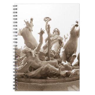 Quadriga in Paris, France Notebook