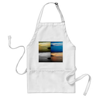 Quadriptych seascape at sunset adult apron