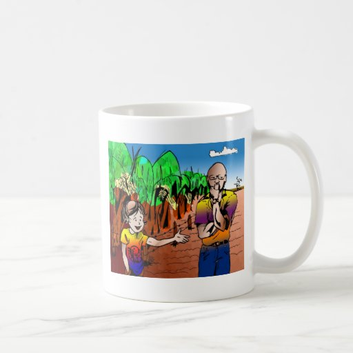 quadro2 quadrinho dilemma of hosta classic white coffee mug