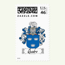 Quadro Family Crest Stamps