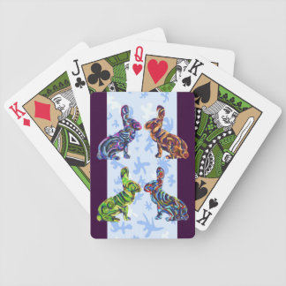 Quadruple Abstract Bunny Playing Cards