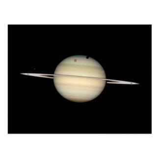 Quadruple Saturn Moon Transit Postcard