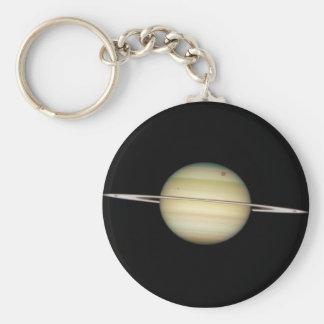 Quadruple Saturn Moons in Transit Basic Round Button Keychain