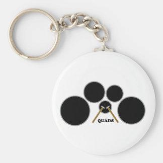 quads basic round button keychain