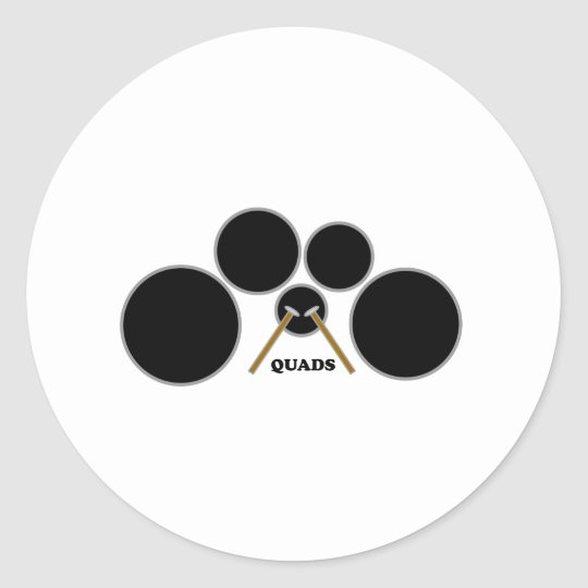 quads classic round sticker