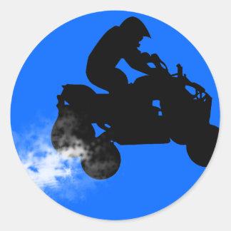 quads. classic round sticker