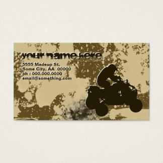 quads : dirt trail : business card