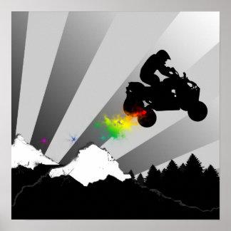 quads dirt trail posters