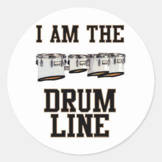 Quads: I Am The Drum Line Classic Round Sticker