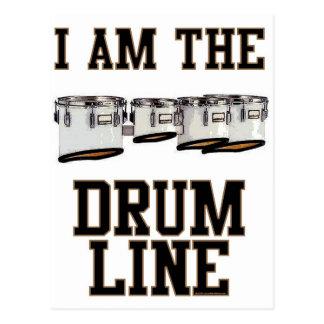 Quads: I Am The Drum Line Postcard