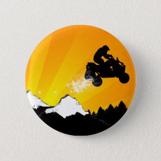quads. orange sunset. pinback button
