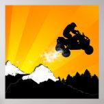 quads. orange sunset. poster