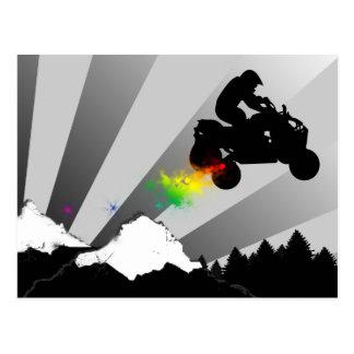 quads. rainbow trail. postcard