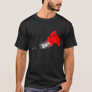 quads. simple. red. T-Shirt