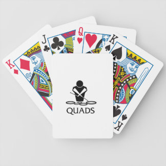 QUADS - Tenor Drums Bicycle Playing Cards