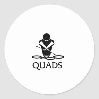 QUADS - Tenor Drums Classic Round Sticker