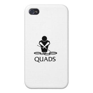 QUADS - Tenor Drums iPhone 4/4S Cases