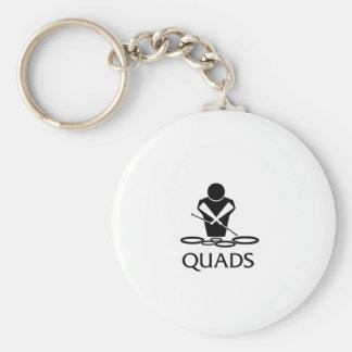 QUADS - Tenor Drums Keychain