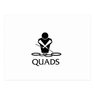 QUADS - Tenor Drums Postcard