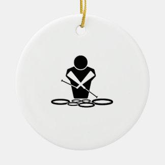 Quads - Tenor Drums - Squints Ceramic Ornament