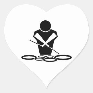 Quads - Tenor Drums - Squints Heart Sticker