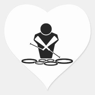 Quads - Tenor Drums - Toms Heart Sticker