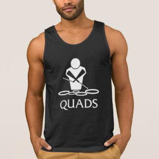 Quads Tenors Drumline Logo T-shirt Tank top