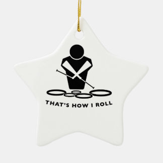QUADS - TENORS - THAT'S HOW I ROLL Double-Sided STAR CERAMIC CHRISTMAS ORNAMENT