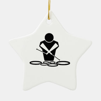 QUADS - TWO SPOCK DRUMS CERAMIC ORNAMENT