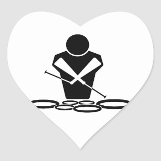 QUADS - TWO SPOCK DRUMS HEART STICKER