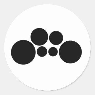 Quads - Two spocks Classic Round Sticker