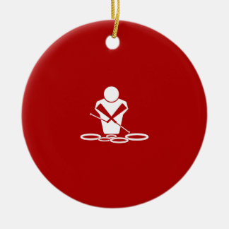 Quads - White - Red Background - Tenors Baby! Christmas Tree Ornament