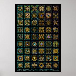 Quadtiles One Dingbat Quilt Print